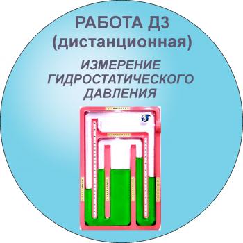 Дистанционная лабораторная работа 3. Измерение гидростатического давления жидкостными приборами